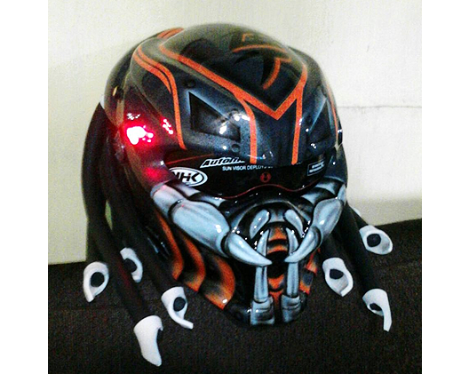 how to make your own predator helmet