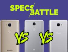 [Infographic] Specs Battle: Honor 5X vs Redmi Note 3 Pro vs Flash Plus 2