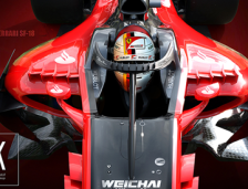 """Ferrari SF-18 with New """"Halo"""" Concept"""