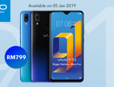 Vivo Y91 Is Officially Available In Malaysia On 5th January.