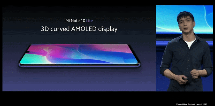 Machine generated alternative text: 10 Mi Note 10 Lite 3D curved edges Swipe smoothly
